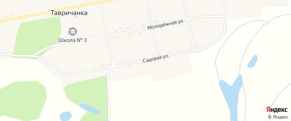 Садовая улица на карте села Тавричанки с номерами домов