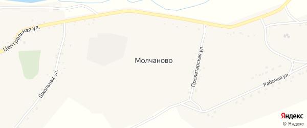 Пролетарская улица на карте села Молчаново с номерами домов