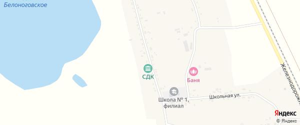 Колхозная улица на карте села Белоногово с номерами домов