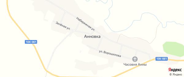 Карта села Анновки в Амурской области с улицами и номерами домов