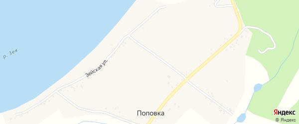 Зейская улица на карте села Поповки с номерами домов