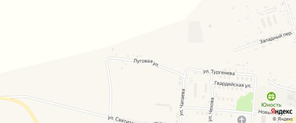 Луговая улица на карте поселка Серышево с номерами домов