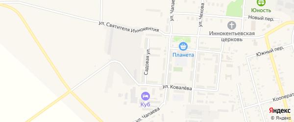 Садовая улица на карте поселка Серышево с номерами домов