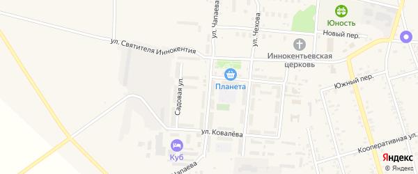 Улица Чапаева на карте поселка Серышево с номерами домов