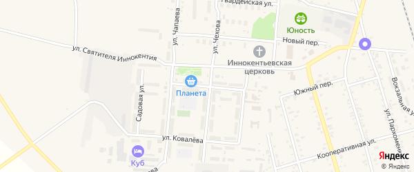 Улица Дементьева на карте поселка Серышево с номерами домов