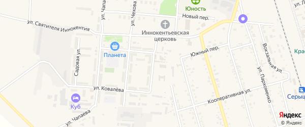 Улица Шимановского на карте поселка Серышево с номерами домов