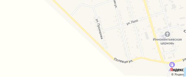 Улица Гагарина на карте поселка Серышево с номерами домов