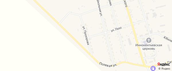 Улица Прохорова на карте поселка Серышево с номерами домов