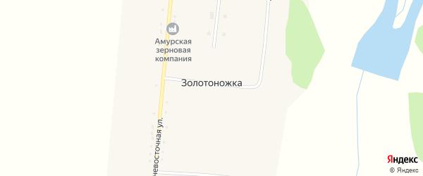 Луговая улица на карте села Золотоножки с номерами домов