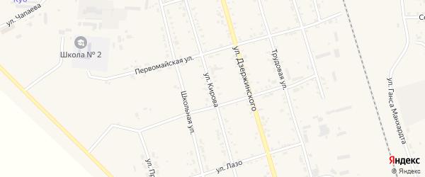 Улица Кирова на карте поселка Серышево с номерами домов