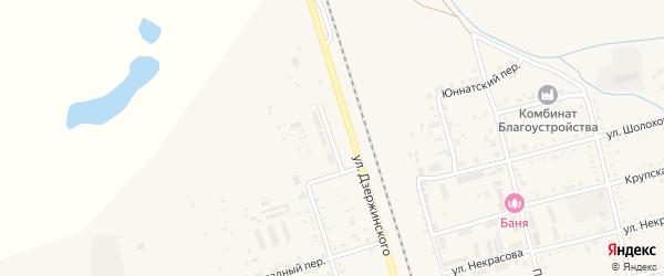 Кирпичный переулок на карте поселка Серышево с номерами домов