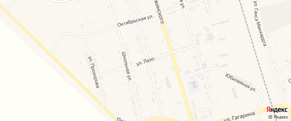Улица Лазо на карте поселка Серышево с номерами домов