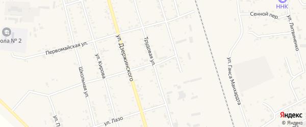 Октябрьская улица на карте поселка Серышево с номерами домов