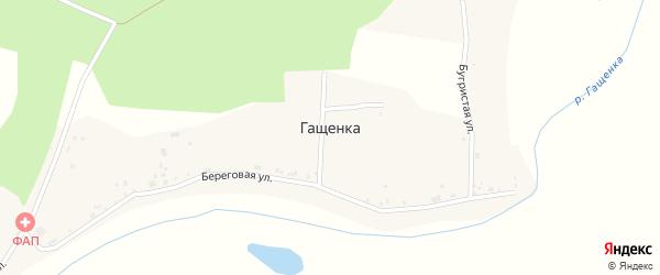 Береговая улица на карте села Гащенки с номерами домов