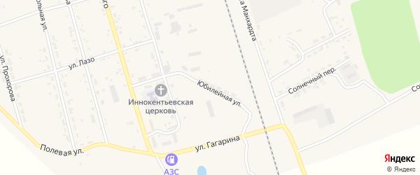 Юбилейная улица на карте поселка Серышево с номерами домов