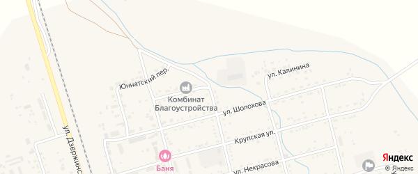 Улица Калинина на карте поселка Серышево с номерами домов