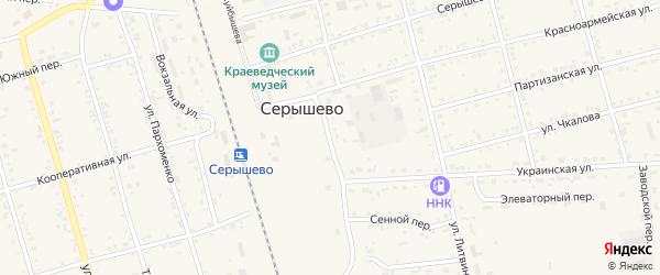 Улица Ганса Манхарта на карте поселка Серышево с номерами домов