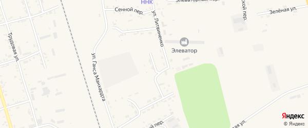 Переулок Энергетиков на карте поселка Серышево с номерами домов