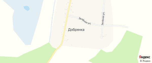 Зеленая улица на карте села Добрянки с номерами домов