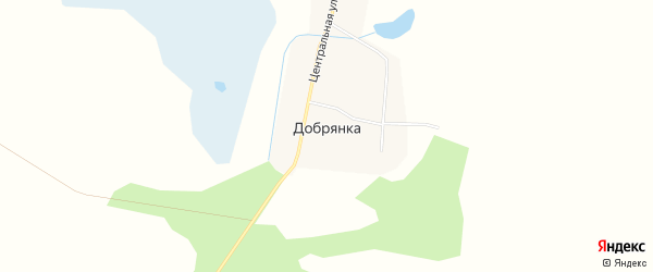 Карта села Добрянки в Амурской области с улицами и номерами домов