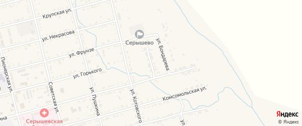 Восточный переулок на карте поселка Серышево с номерами домов
