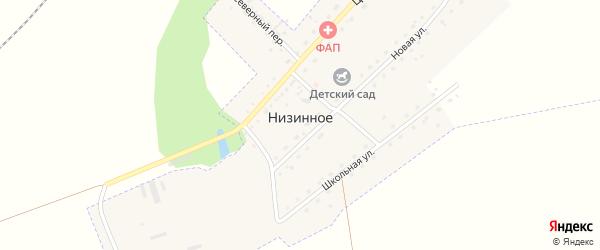 Северный переулок на карте Низинного села с номерами домов