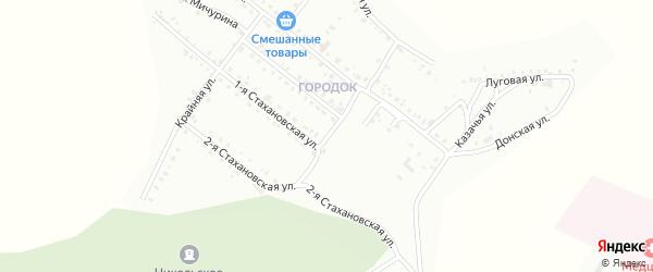 Улица Хмельницкого на карте Белогорска с номерами домов