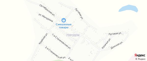 Октябрьская улица на карте Белогорска с номерами домов