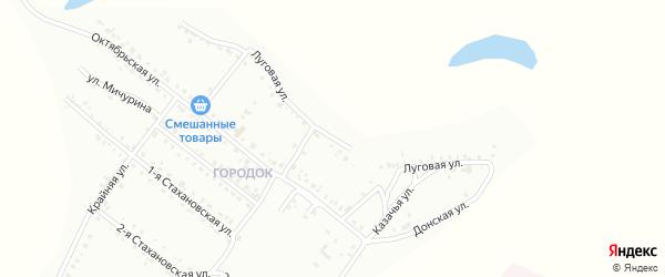Луговая улица на карте Белогорска с номерами домов