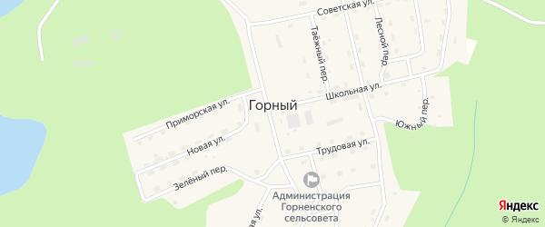 Таежный переулок на карте Горного поселка с номерами домов