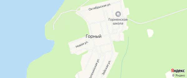 Карта Горного поселка в Амурской области с улицами и номерами домов