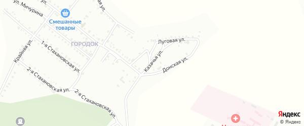 Казачья улица на карте Белогорска с номерами домов