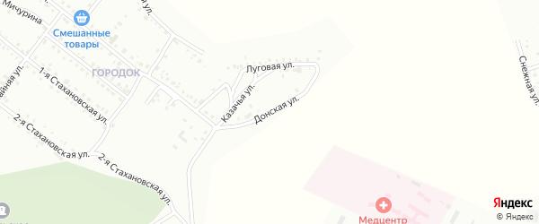 Донская улица на карте Белогорска с номерами домов