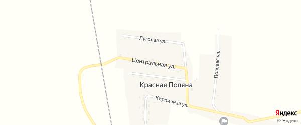 Центральная улица на карте села Красной Поляны с номерами домов