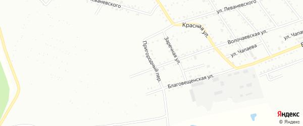 Пригородный переулок на карте Белогорска с номерами домов