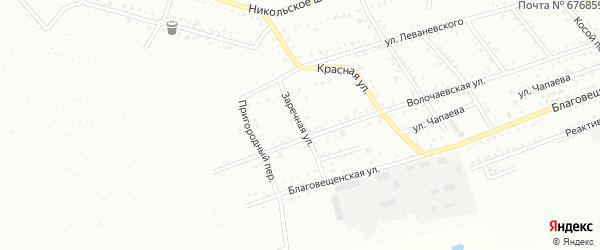 Заречная улица на карте Белогорска с номерами домов