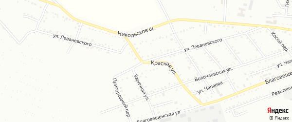 Улица Леваневского на карте Белогорска с номерами домов