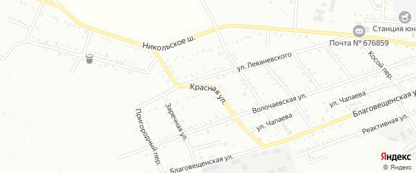 Красная улица на карте Белогорска с номерами домов