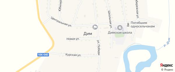 Переселенческая улица на карте села Дима с номерами домов