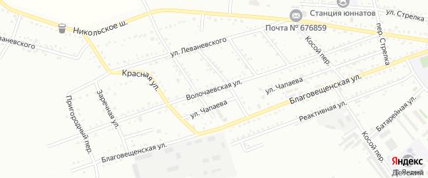 Волочаевская улица на карте Белогорска с номерами домов