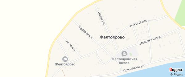Трудовая улица на карте села Желтоярово с номерами домов