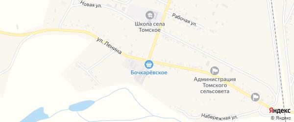 Улица Ленина на карте Томского села с номерами домов