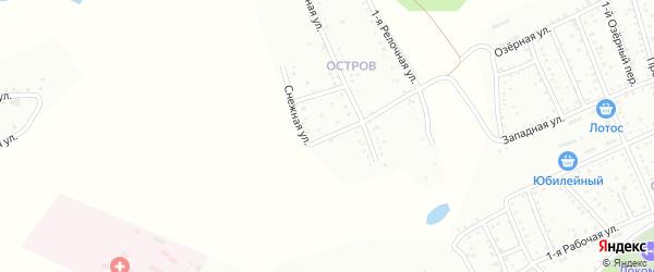 Снежная улица на карте Белогорска с номерами домов