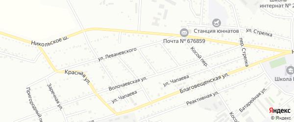 1-й Кирпичный переулок на карте Белогорска с номерами домов