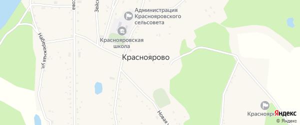 Улица 50 лет Октября на карте села Красноярово с номерами домов