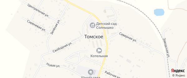 Колхозная улица на карте Томского села с номерами домов
