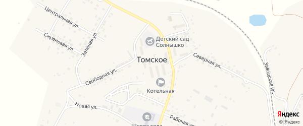Зеленая улица на карте Томского села с номерами домов