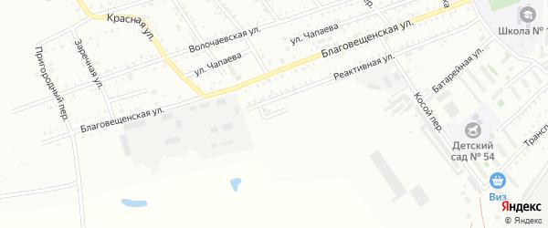 Реактивный переулок на карте Белогорска с номерами домов