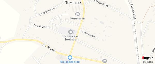 Украинская улица на карте Томского села с номерами домов