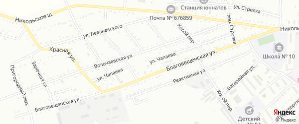 Улица Чапаева на карте Белогорска с номерами домов